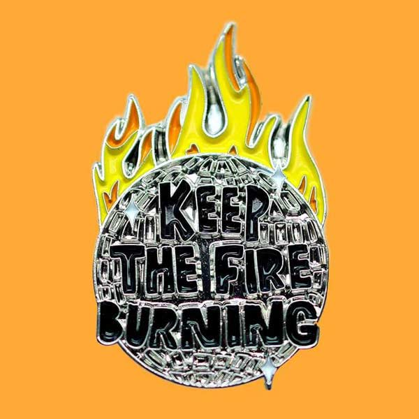 Fire Burning Pin